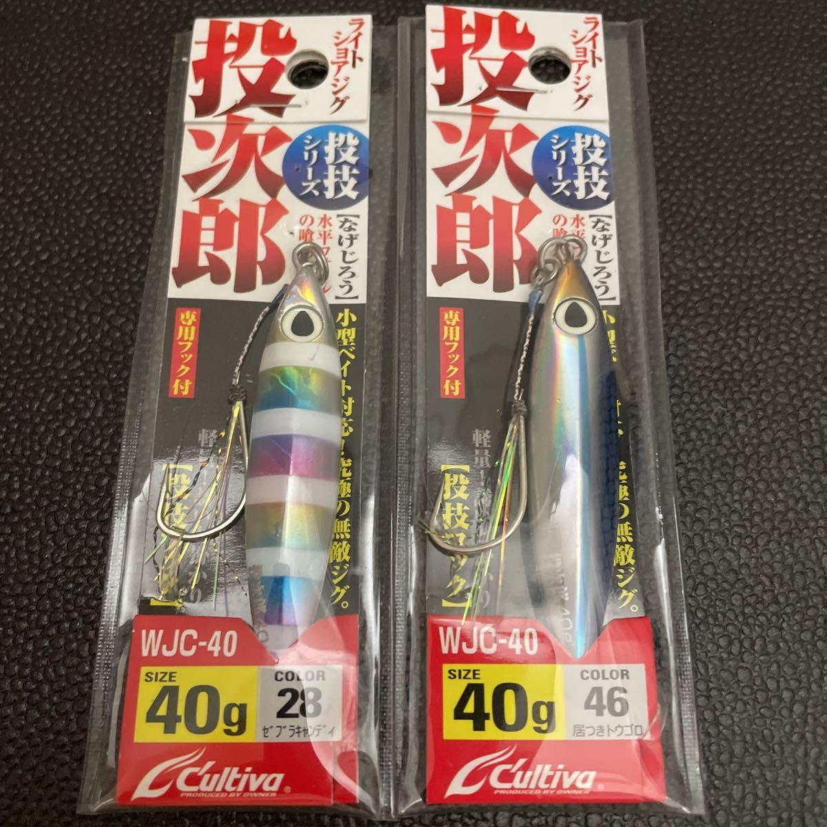 投次郎 40g 2個set 未使用(撃投ジグ