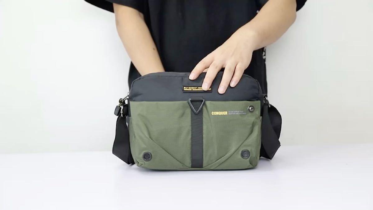 ショルダーバッグ 斜め掛け 小さめ コンパクト 大容量 ポケット多い 多機能収納