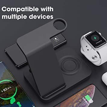 ブラック SIKAI ワイヤレス充電器 For iphone / apple watch 5 (OS6) / airpods p_画像5