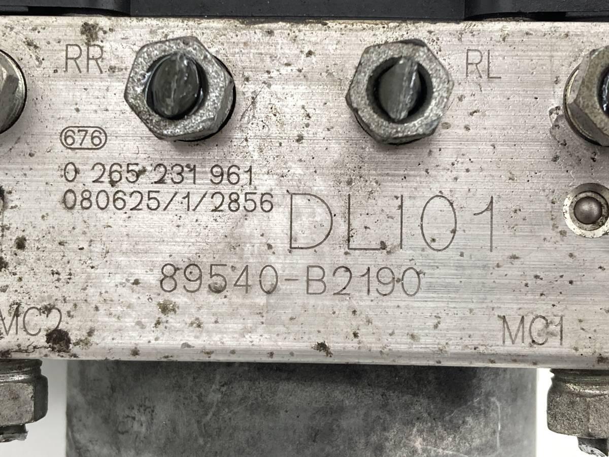 _b58101 ダイハツ ムーヴ ムーブ カスタム X DBA-L175S ABSアクチュエーター ユニット 89540-B2190 L185S_画像5