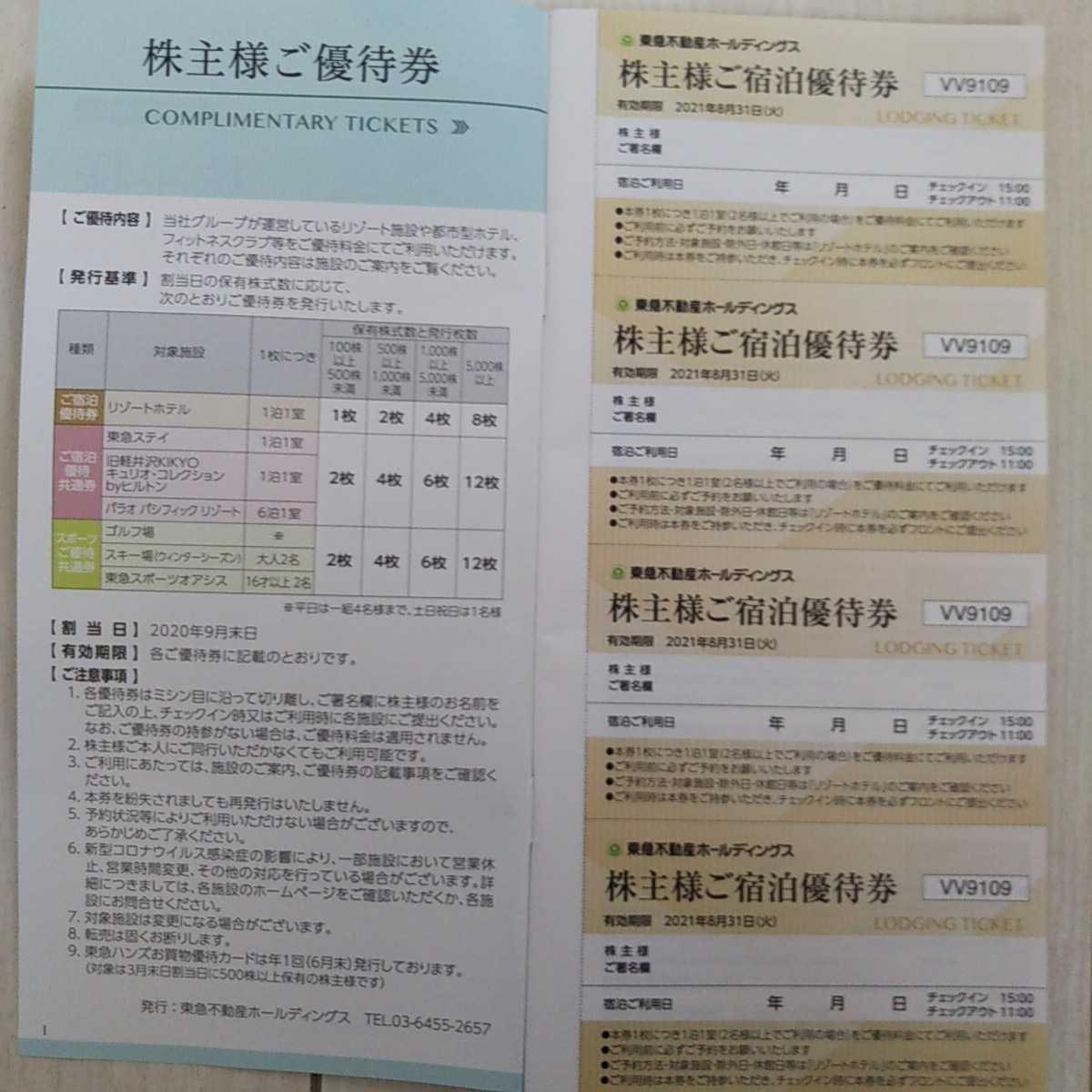 東急不動産ホールディングス 株主優待券16枚_画像2