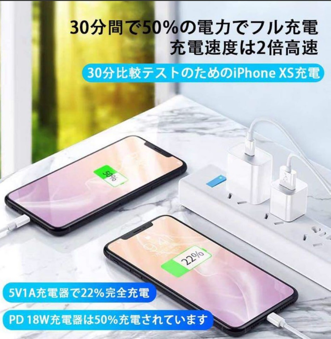 充電ケーブル USB-C Lightningケーブル