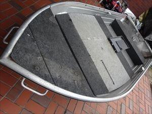 「ステーサー12フィート(即決あり)アルミボートV 船検令和7年11月まで 船体のみ 中古品   中古 持ち帰り 小型ボート」の画像1