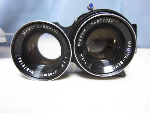 マミヤ Mamiya C330 + Mamiya-Sekor 80mm F/2.8 中古 ジャンク扱い(TB2)_本体から外せばレンズのシャッター切れます