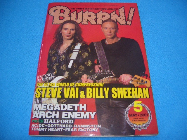 ★BURRN!★送料無料【2001年5月】MEGADETH / ARCH ENEMY / STEVE VAI / PARADISE LOST / W.A.S.P. / UNITED / LIZZY BORDEN / GARY MOORE_画像1