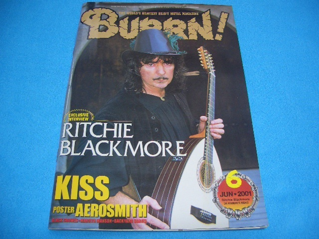 ★BURRN!★送料無料【2001年6月】BLACKMORE'S NIGHT / KISS / MEGADETH / ARCH ENEMY / EXHUMED / 島紀史 / CATHEDRAL / NAPALM DEATH_画像1