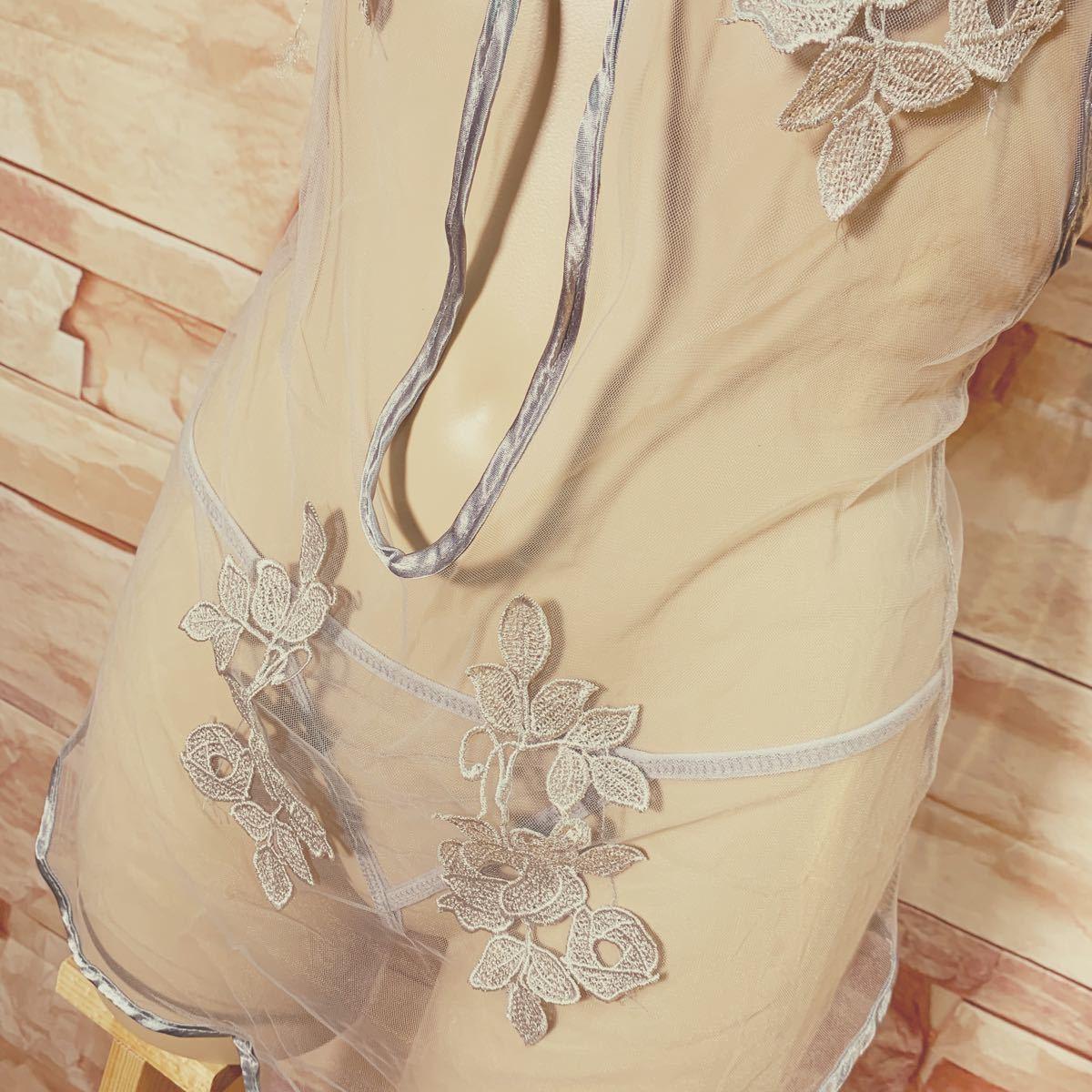 セクシー 薔薇 刺繍 ランジェリー ナイトウェア チャイナドレス 3色セット