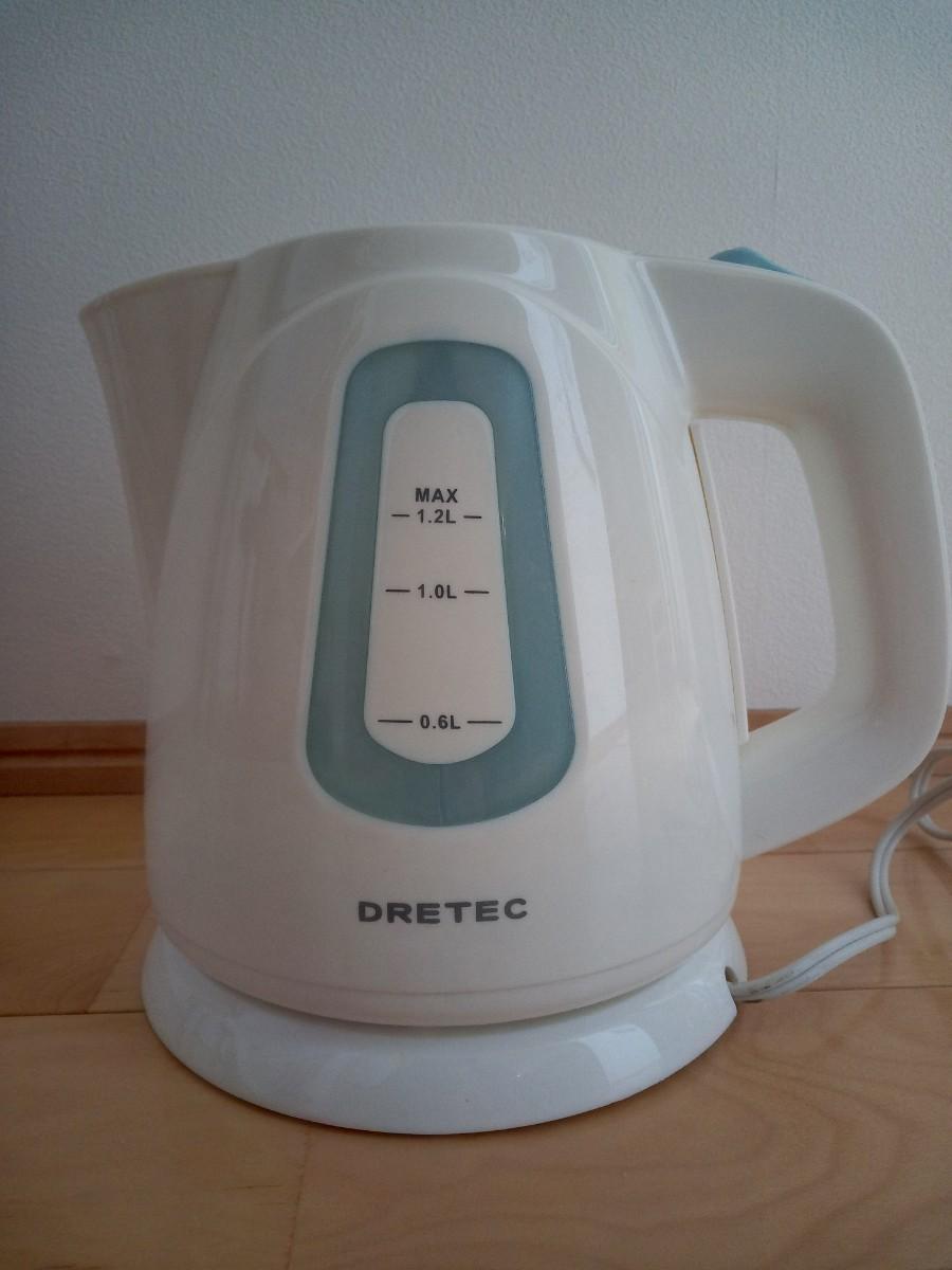 電気ケトル DRETEC 1.2L