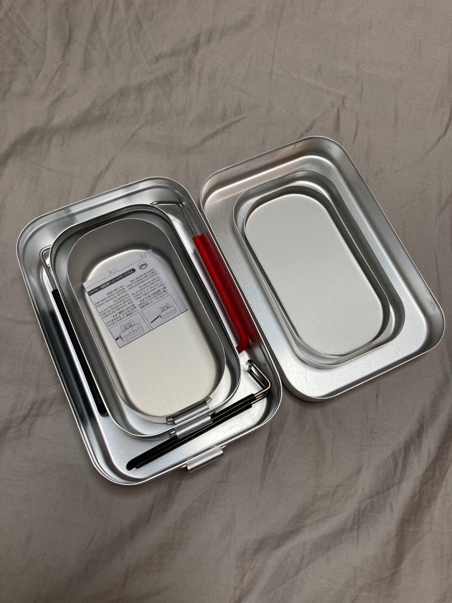 trangia メスティン トランギア ラージ スモール ダイソー 3点セット スタッキング 飯盒