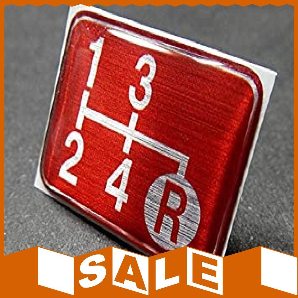 1円~即決・Tuningfan シフトパターン エンブレム レッド 4速MT車用 旧車 サニトラ ローバーミニ 赤 SPE-R4_画像2