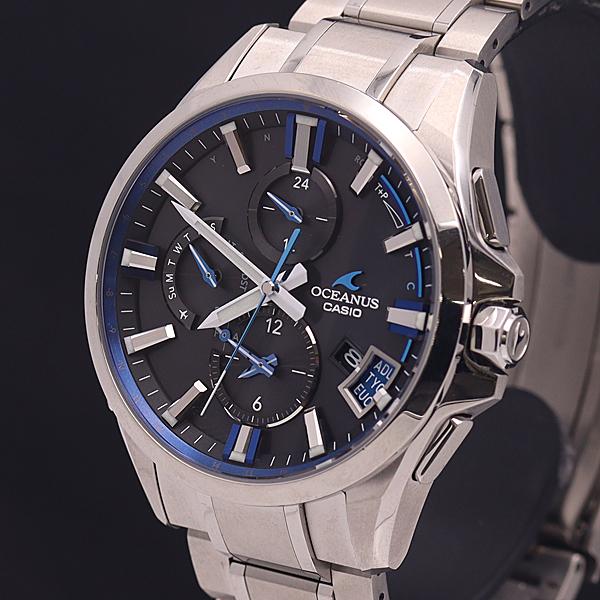1円●美品●稼働品【CASIO オシアナス】保/箱付き マルチバンド6 Bluetooth搭載 OCW-G2000 メンズ腕時計 A0075268_画像1