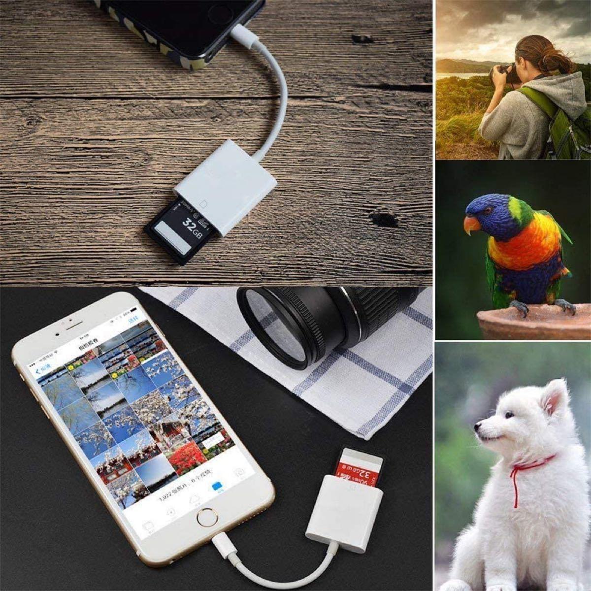 iPhone iPad 専用 microメモリSDカードリーダー
