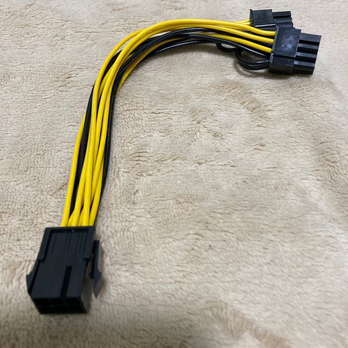 PCI-e ケーブル メス6pin オス6+2pin x2 電源ケーブル PCI Express 電源 変換ケーブル GPU