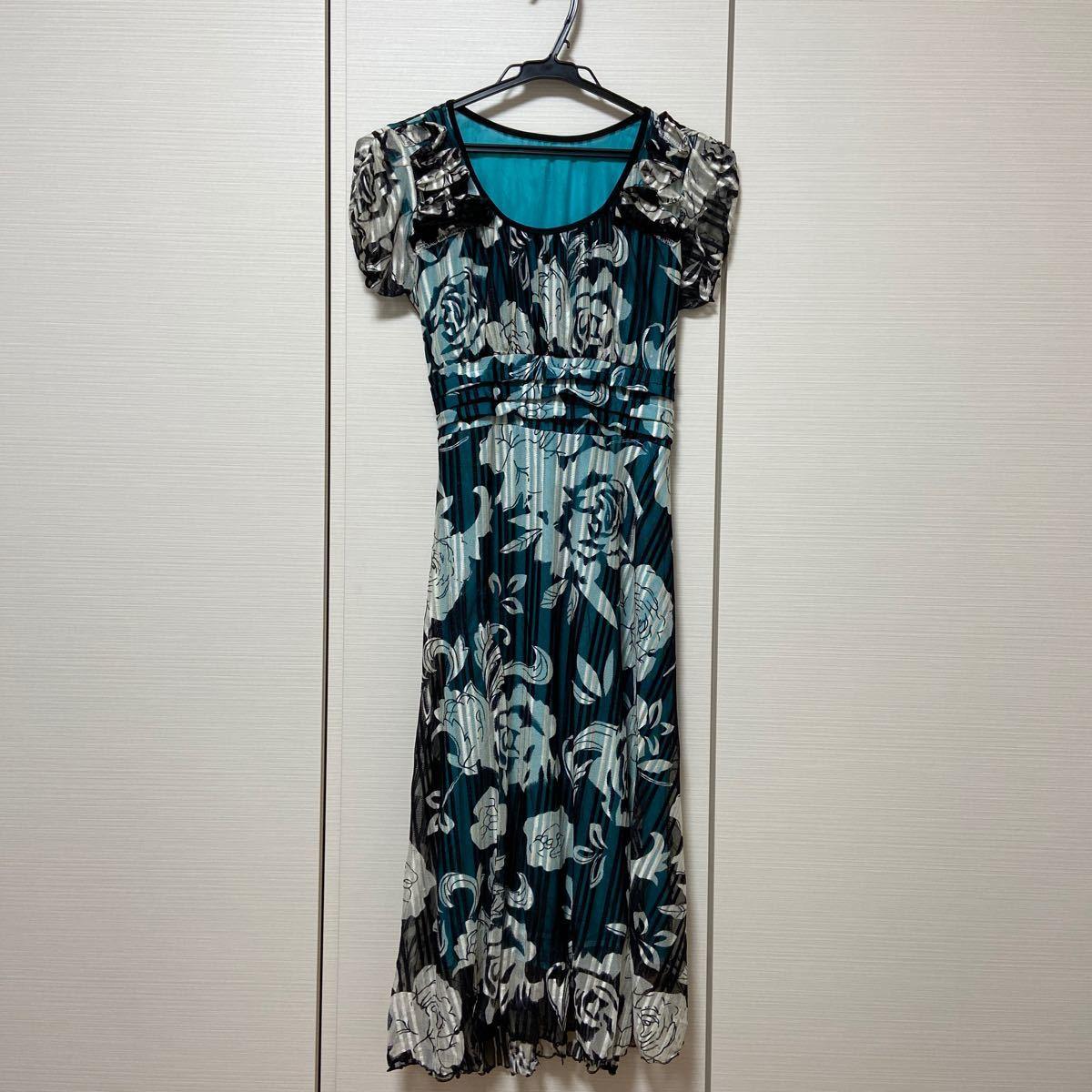 ワンピース 花柄 ロングワンピース 半袖 夏 ドレス