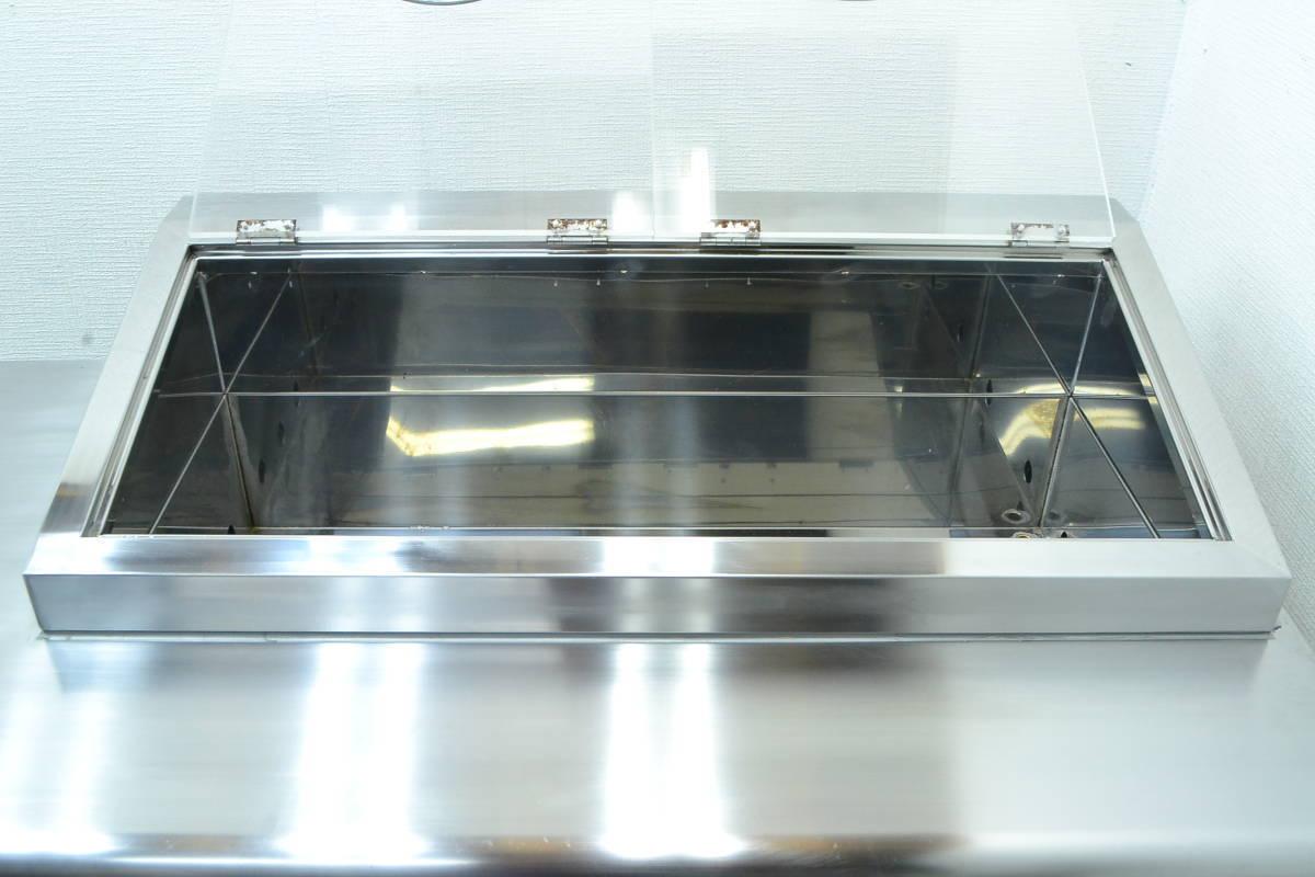 C68■Panasonic■台下冷蔵庫(サンプルディスプレーBOX付)■SUR-K1801SA■2015年製■コールドテーブル■100V_画像7