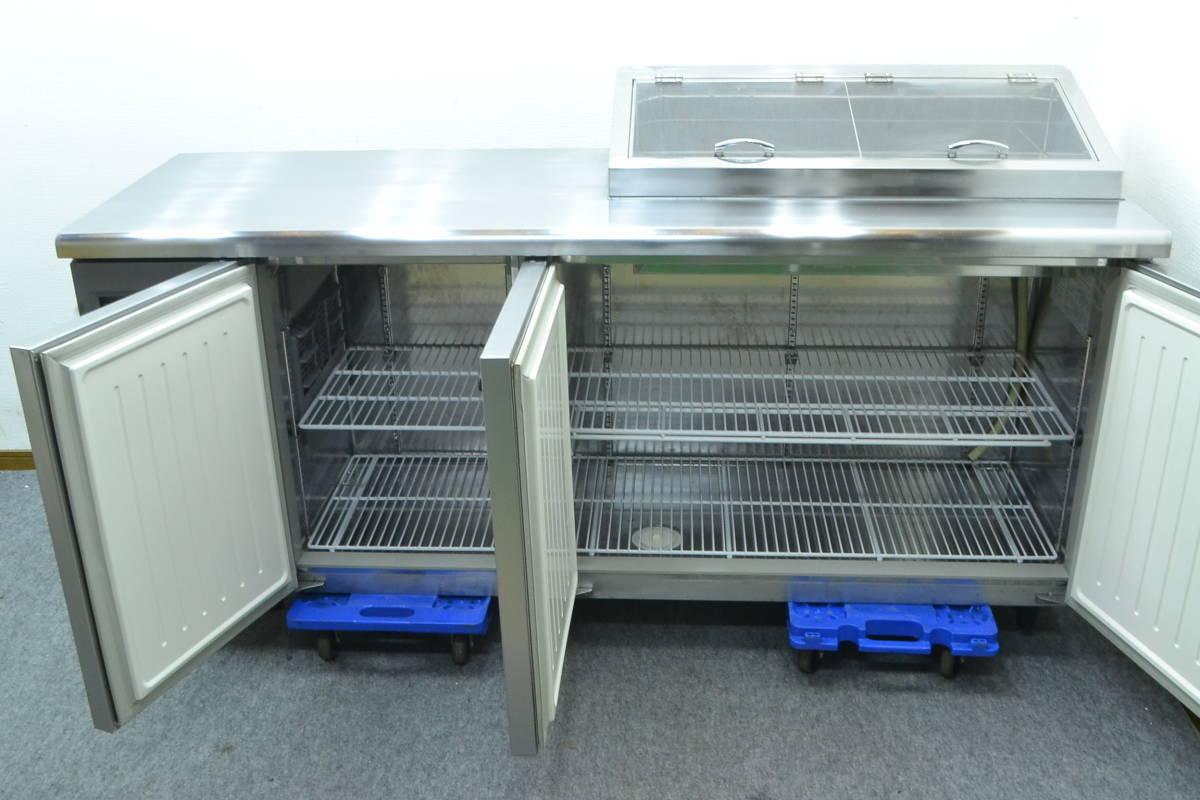 C68■Panasonic■台下冷蔵庫(サンプルディスプレーBOX付)■SUR-K1801SA■2015年製■コールドテーブル■100V_画像4