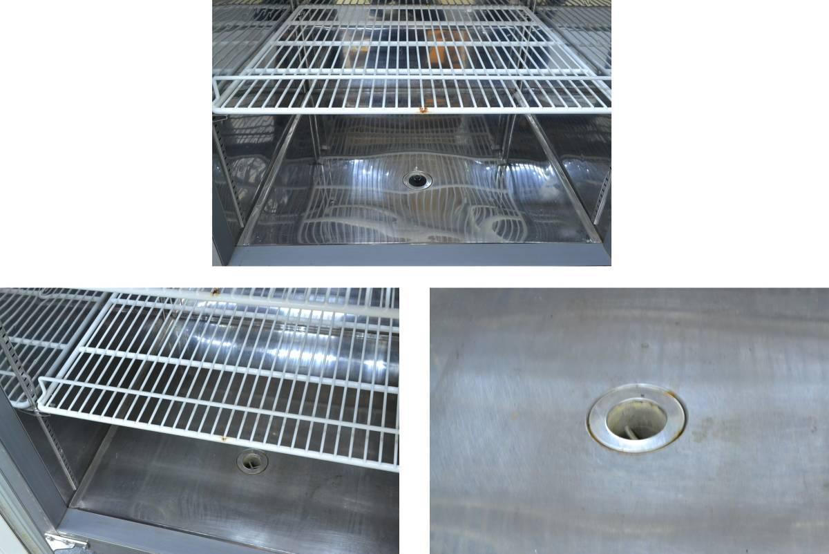 h184■フジマック■冷凍冷蔵庫 2014年製■4枚扉 冷凍 634L/冷蔵 634L■FR1580F2J_写真右下 ゴム栓がございません。