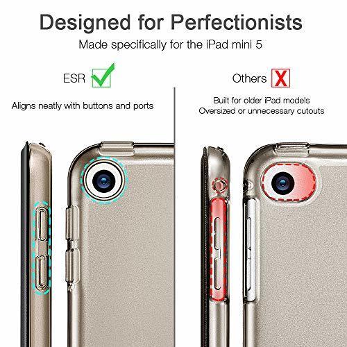 ESR ブラック ESR iPad Mini 5 2019 ケース 軽量 薄型 PU レザー スマート カバー 耐衝撃 傷防止_画像2