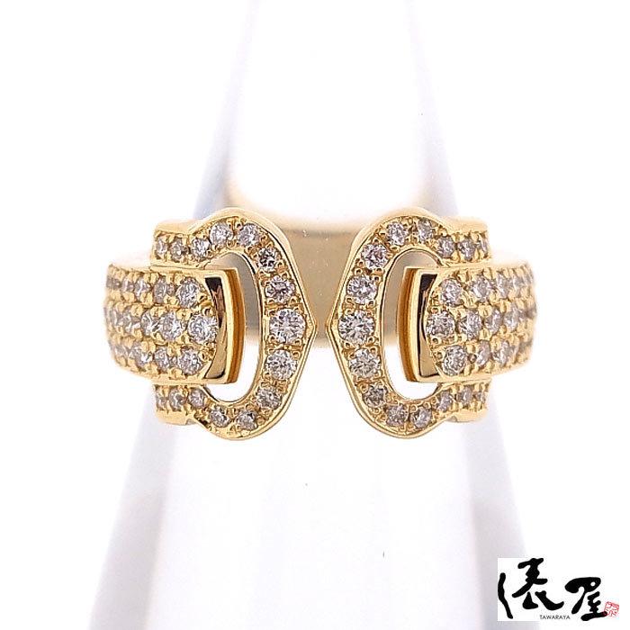 【カルティエ】ブークルセリング K18 750 YG パヴェダイヤモンド #47 加工後未使用 Cartier_画像5