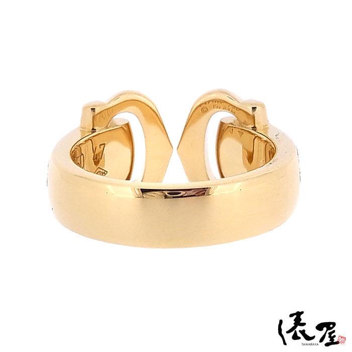 【カルティエ】ブークルセリング K18 750 YG パヴェダイヤモンド #47 加工後未使用 Cartier_画像6