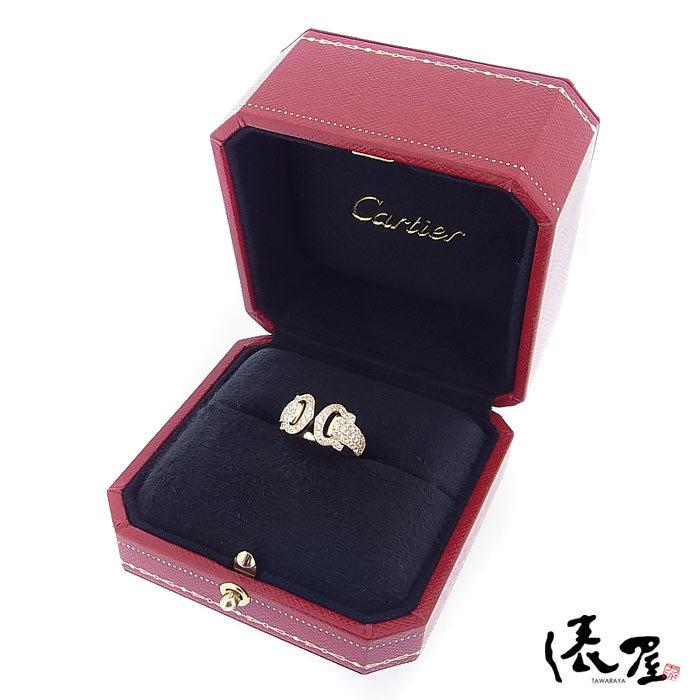 【カルティエ】ブークルセリング K18 750 YG パヴェダイヤモンド #47 加工後未使用 Cartier_画像8