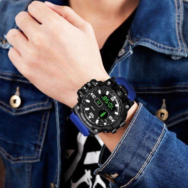 ☆大特価☆ファッション メンズ腕時計防水 メンズボーイ 液晶デジタルストップウォッチ 日付 スポーツ腕時計 レロジオリロイ Q7 選べる3色_画像8