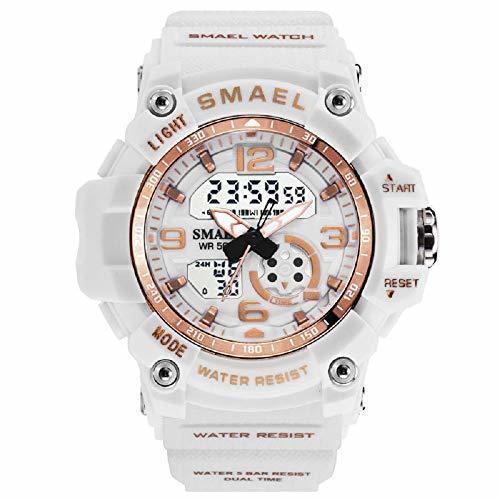 新品特価!!お得 SMAEL(スマエル) SMAEL ミリタリー 迷彩風 アナデジ 腕時計 メンズ 男性 アラーム クロノグラフ 多機能_画像1