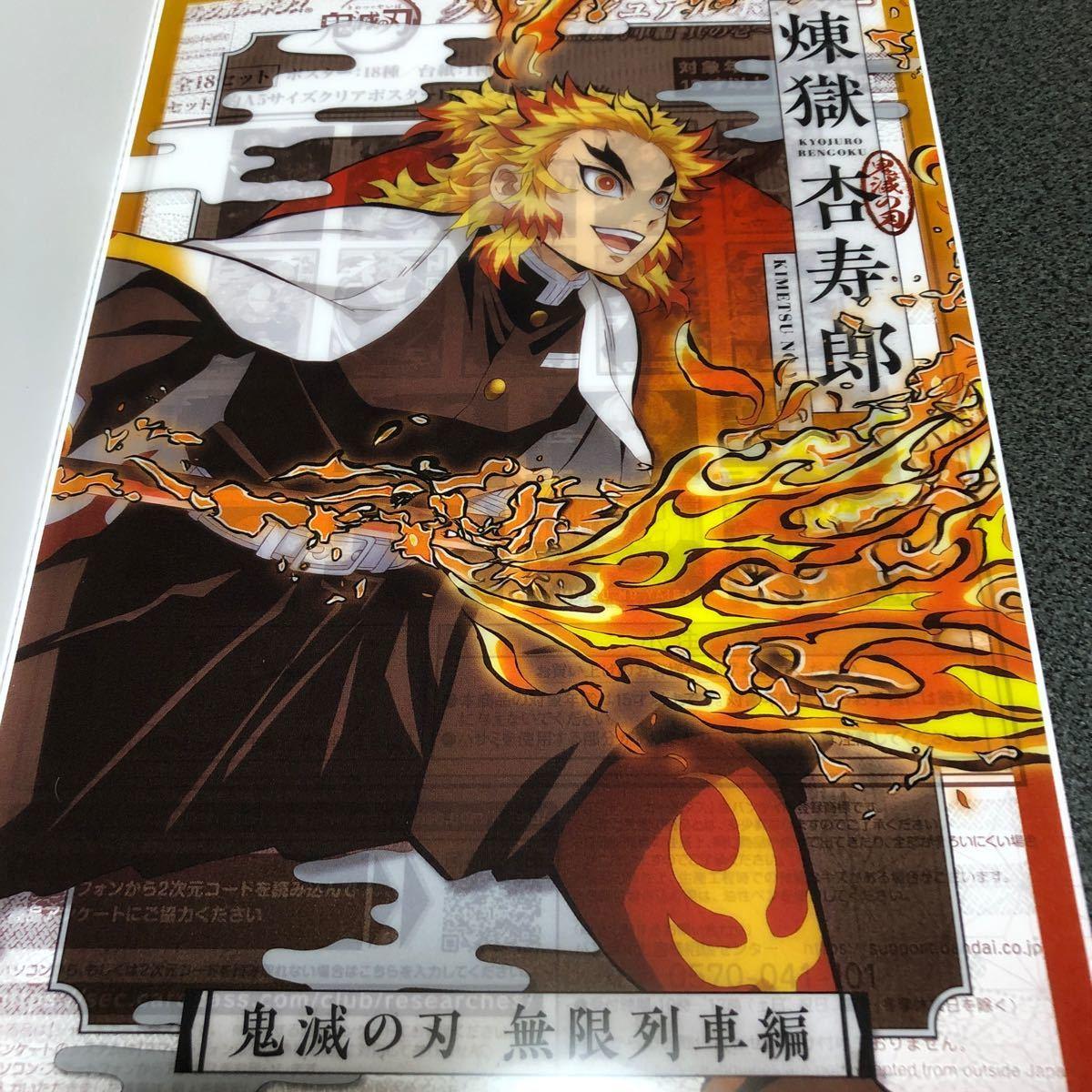鬼滅の刃 クリアビジュアルポスター 無限列車編 煉獄杏寿郎