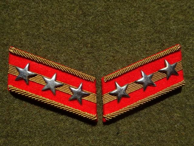 [実物級]大日本帝国陸軍三式大尉襟章(森商会精密複製)_画像1