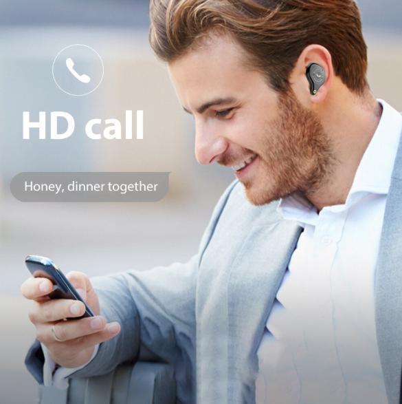 bluetooth5.0ワイヤレスイヤホン 大容量3600mah 自動ペアリング 高音質HIFI ノイズリダクション 防水 iphone/android/PC ホワイト_画像5