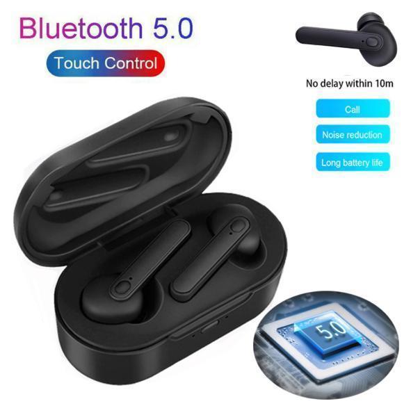 TWSワイヤレスイヤホン bluetooth5.0 HIFI高音質 ノイズリダクション 防水 自動ペアリング 左右分離型 iphone/android ブラック_画像1