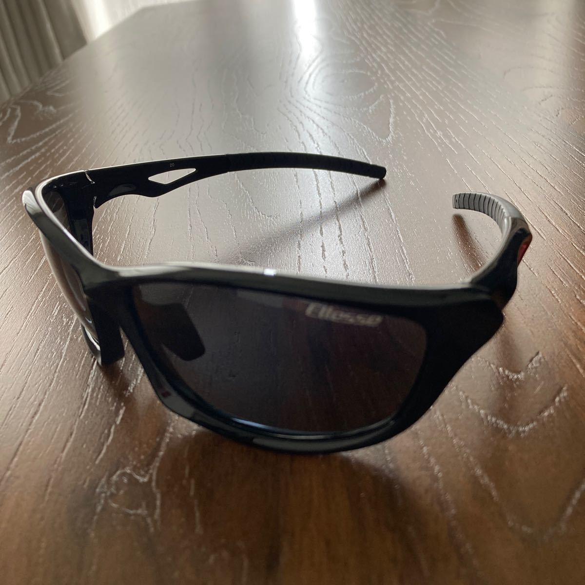 エレッセ スポーツサングラス メンズ 偏光レンズ ES-S203H ブラック/レッド