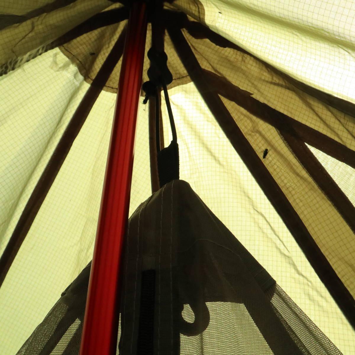 【国内発送・送料無料】 ハーフサイズ メッシュインナー ワンポールテント用 タップテント用 ソロキャンプ 蚊帳 《PayPay対応》