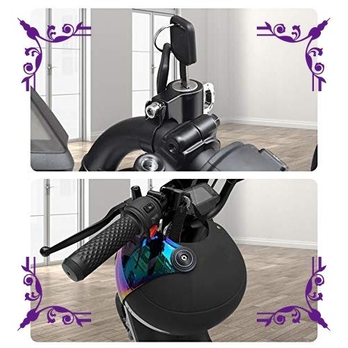 【送料無料】汎用 ヘルメットロック ヘルメットホルダー バイク ハンドル スクーター パイプ 防犯 鍵 キー 盗難防止 直径 22_画像4