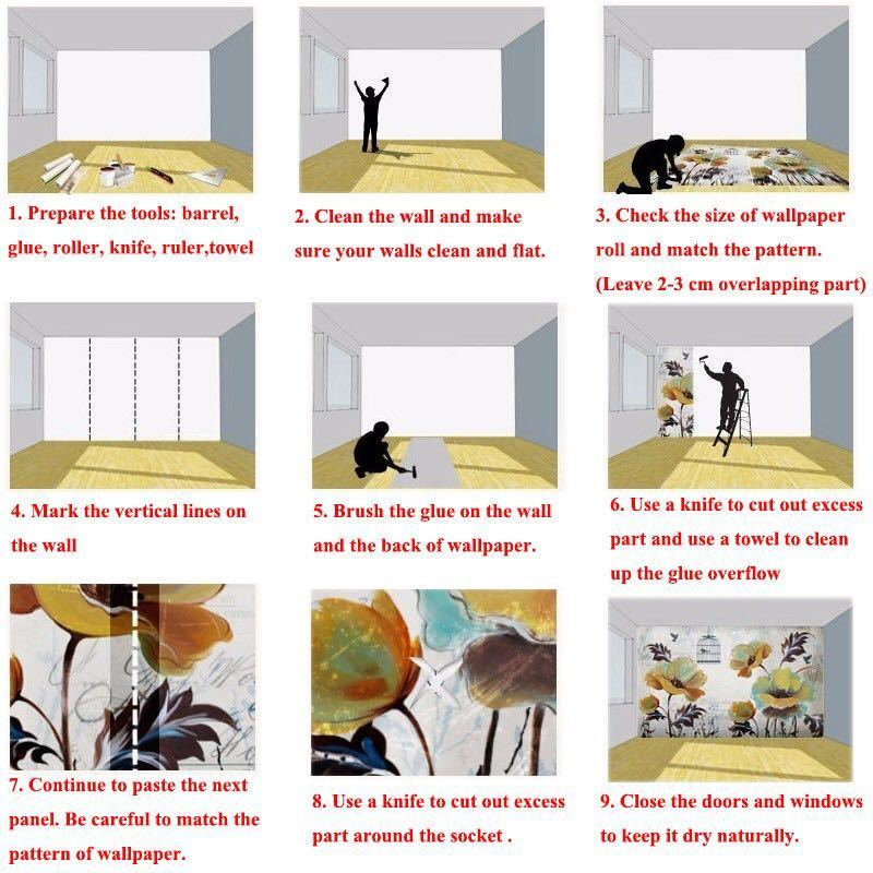 【オリジナルサイズオーダー可能】カスタムサイズ中世熱帯雨林植物壁紙 壁画子供部屋 動物ジャングルレストランb & b pvcリビングルーム_画像5