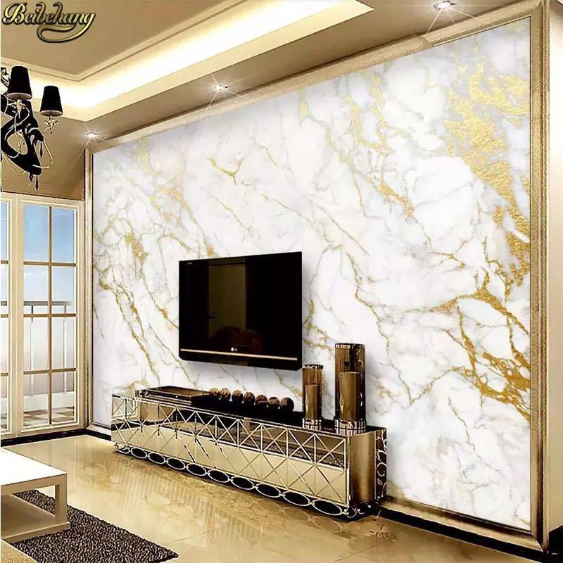 Beibehangカスタム壁紙壁画ゴールドシルクジャズ白大理石の壁論文の家の装飾壁紙リビングルームpapelデparede 3D壁紙 _画像1