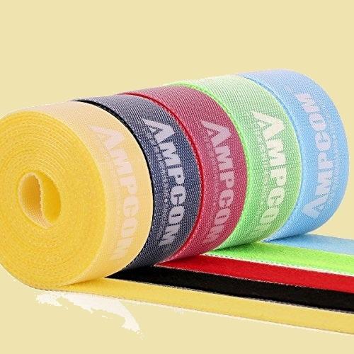 大人気 新品 未使用 結束バンドマジックバンド AMPCOM N-X4 結束テ-プ 自由にカット 線整理 ケ-ブル/コ-ド等収納 幅2cm 長さ200cm_画像1