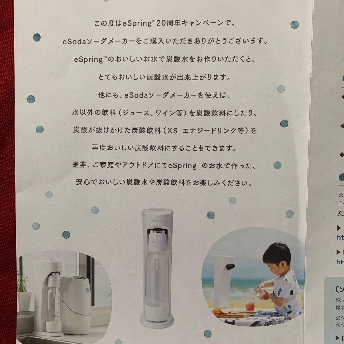アムウェイ eソーダ 家庭用炭酸水メーカー