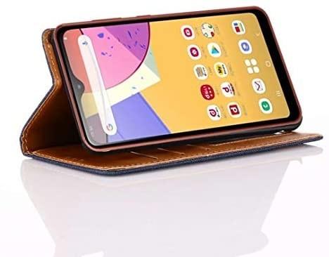 Samsung Galaxy A21 デニム 手帳型ケース DINGXIN 日本版 docomo SC-42A 耐衝撃_画像4