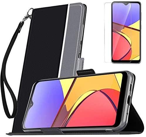 【液晶ガラスフィルムとストラップ付き】Mutucu 2020年発売 docomo Galaxy A21 SC-42A手帳型 ケース_画像1