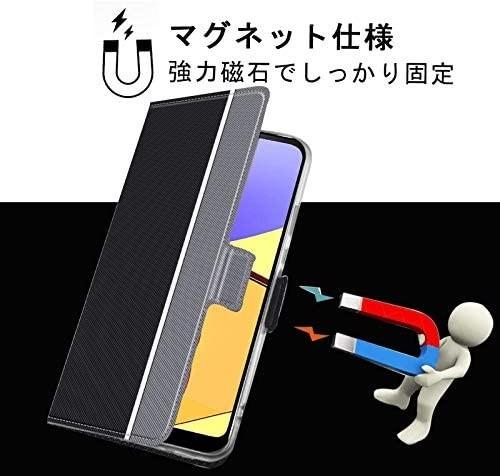 【液晶ガラスフィルムとストラップ付き】Mutucu 2020年発売 docomo Galaxy A21 SC-42A手帳型 ケース_画像4