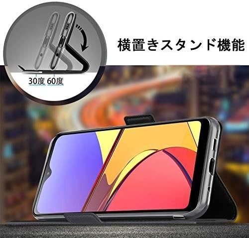 【液晶ガラスフィルムとストラップ付き】Mutucu 2020年発売 docomo Galaxy A21 SC-42A手帳型 ケース_画像3
