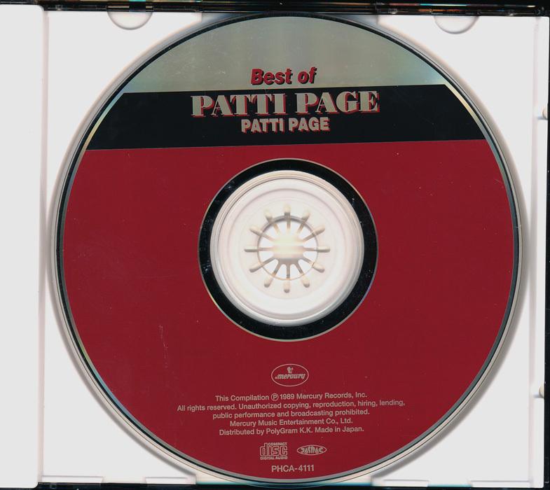 60年代洋楽女性┃パティ・ペイジ│Patti Page■テネシー・ワルツ~ベスト・オブ・│Best Of Patti Page■PHCA-4111■管理CD5372_画像3