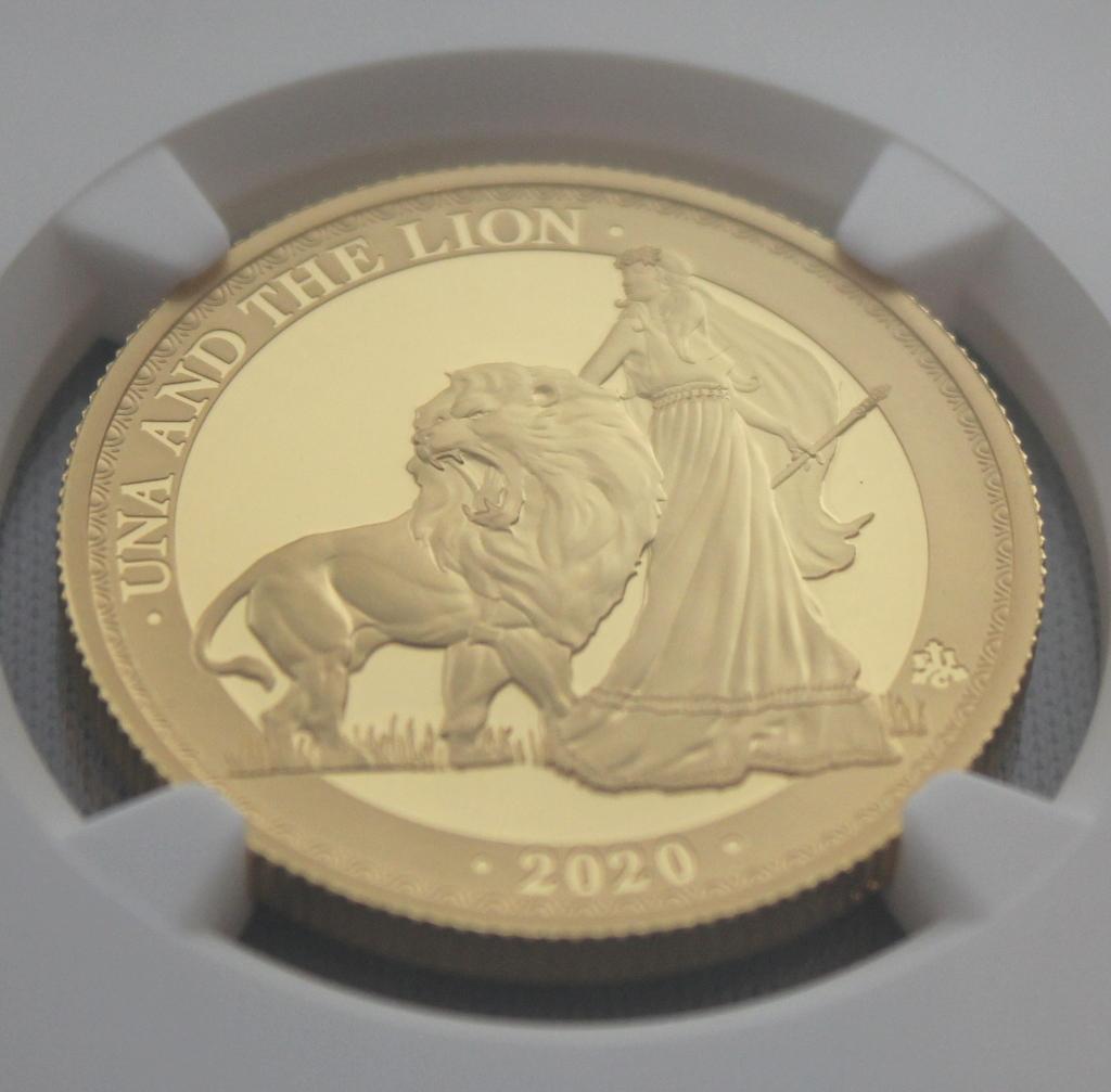 2020年 イギリス領 セントヘレナ ウナとライオン 5ポンド 金貨 NGC PF70UC 最高鑑定品!!_画像4