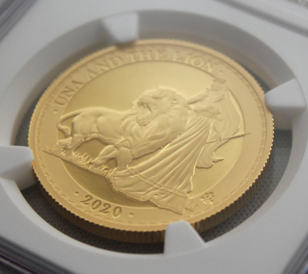 2020年 イギリス領 セントヘレナ ウナとライオン 5ポンド 金貨 NGC PF70UC 最高鑑定品!!_画像3