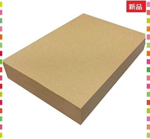 新品!即決◆色ブラウン 500枚 ペーパーエントランス クラフト紙 A4 75.5kg 500枚 プリンター用XO1Q674_画像1