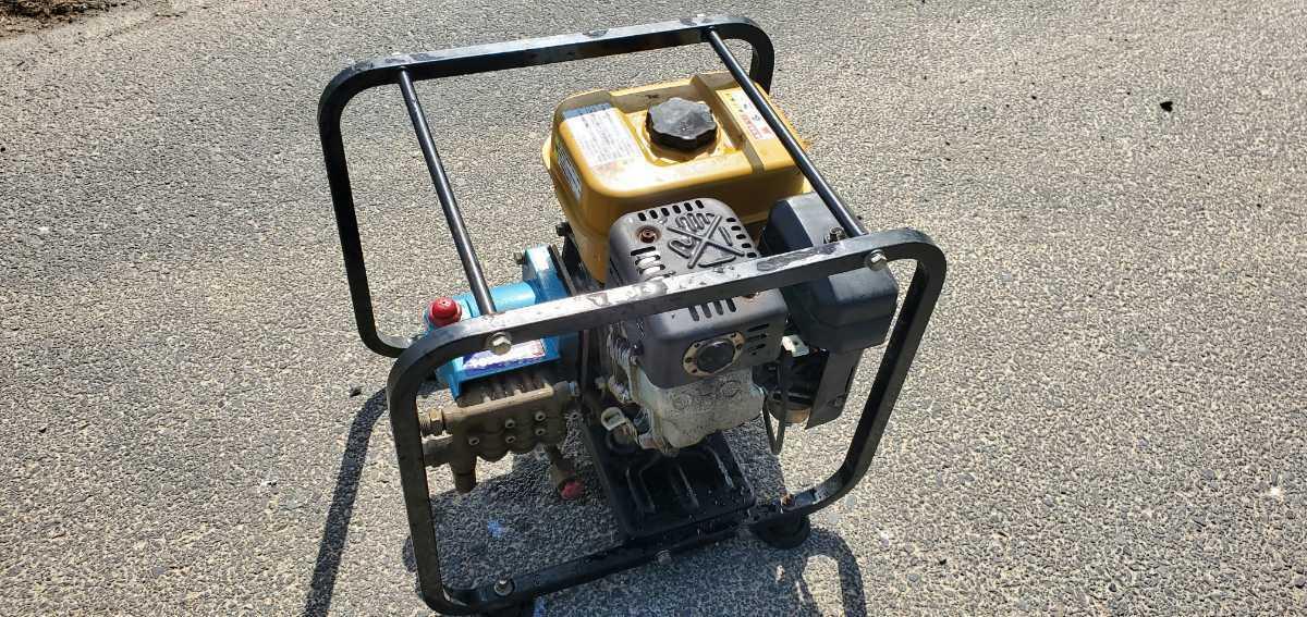 簡単に動作確認済み。スバルエンジン搭載 TSW12B エンジン高圧洗浄機 高圧ポンプ_画像3