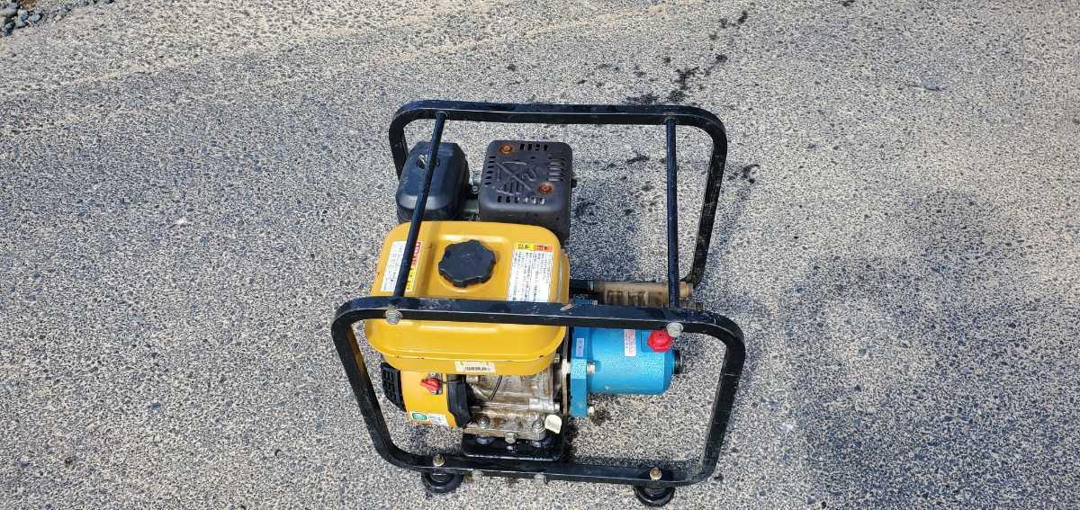 簡単に動作確認済み。スバルエンジン搭載 TSW12B エンジン高圧洗浄機 高圧ポンプ_画像6