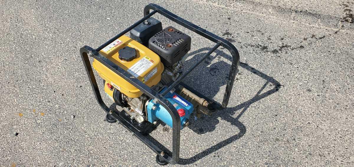 簡単に動作確認済み。スバルエンジン搭載 TSW12B エンジン高圧洗浄機 高圧ポンプ_画像1