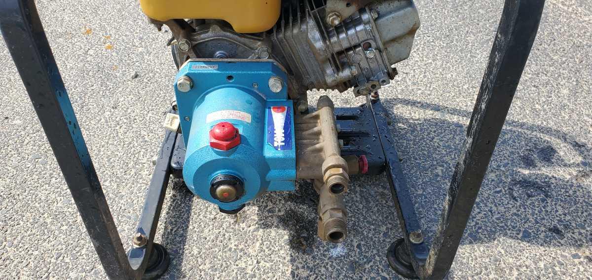 簡単に動作確認済み。スバルエンジン搭載 TSW12B エンジン高圧洗浄機 高圧ポンプ_画像7